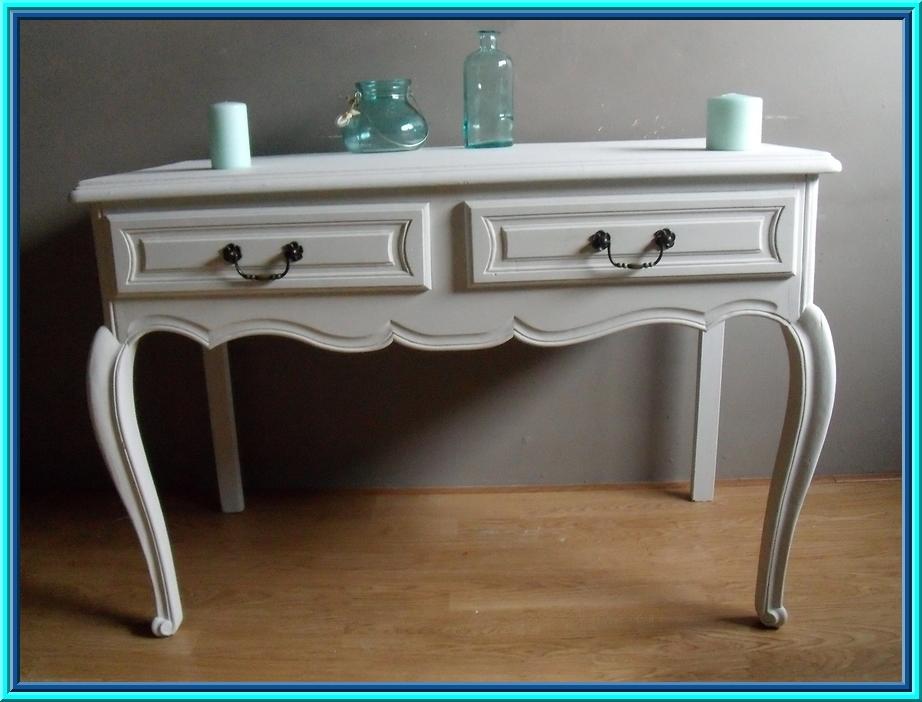Barok Witte Sidetable.Afbeeldingen